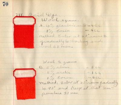 Detail from the Alfie Nelson Laboratory Notebook.