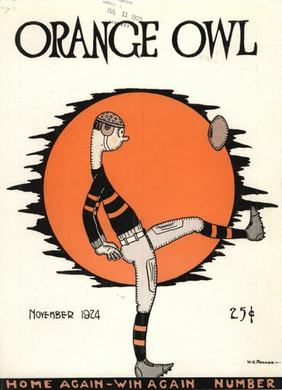 "Cover of the ""Orange Owl"" magazine, November 1924."