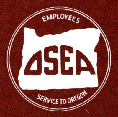 "Oregon State Employees Association logo from a pamphlet titled ""It Pays You to Belong,"" ca 1970s."