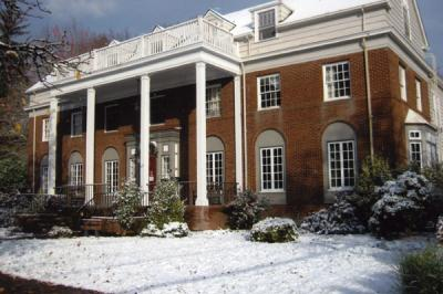 Oxford House on a snowy day, winter of 2009-2010.