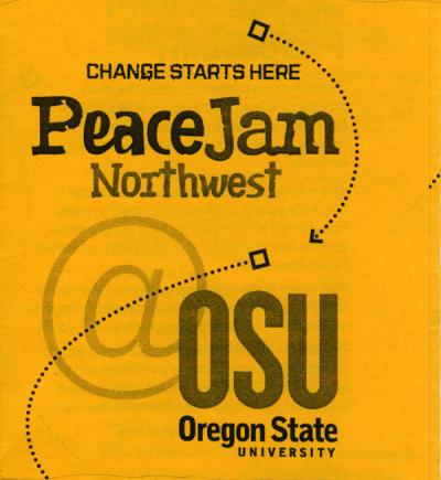 Peace Jam Northwest flyer, ca. 2005.