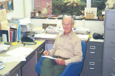 William Pearcy in his OSU office, September 2003.