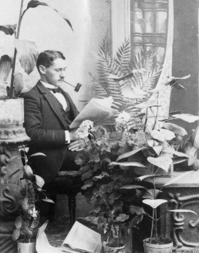 <p>Emile F. Pernot, ca. 1890. Pernot and his brother, Eugene, started a photography business in Corvallis about 1889. Emile Pernot taught photography and art classes at Oregon Agricultural College in the 1890s and in 1899 was</p><p>				the first faculty member to teach a course in bacteriology.</p>
