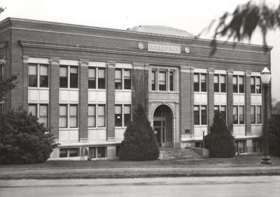 Pharmacy Building, ca 1960s. Building is shown before an additional wing was added.