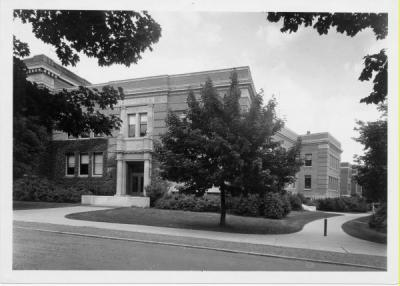 Physics Building, ca. 1940s. The Physics Building was completed in 1928.
