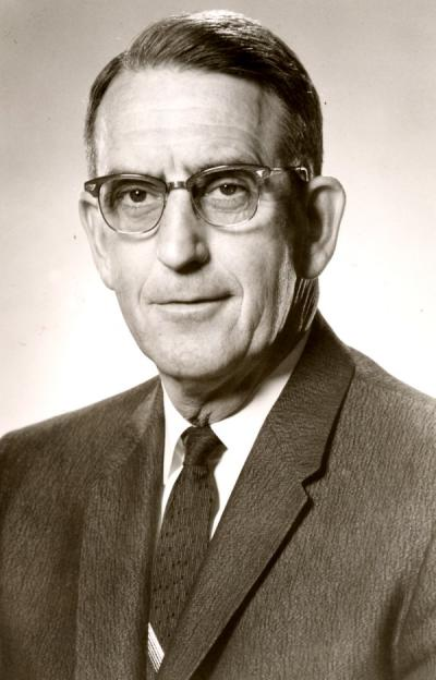 Dan Williams Poling, ca 1960s. Poling was the Dean of Men from 1947-1970. The Dan Poling Service Award recognizes those who have dedicated an extensive amount of volunteer work to Oregon State University.