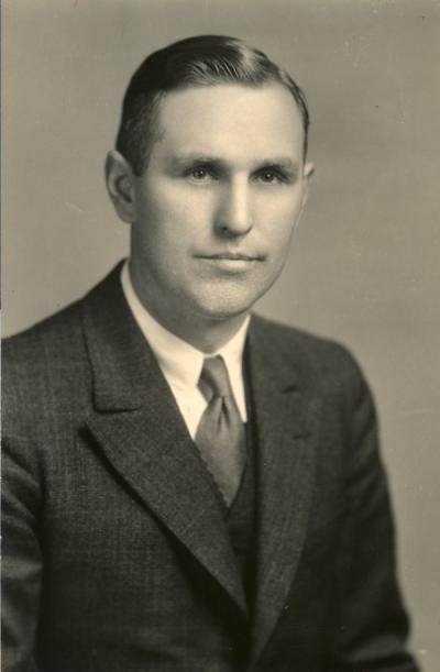 Frederick Earl Price, 1940. Price was an Agriculture Engineer for the Agriculture Experiment Station.