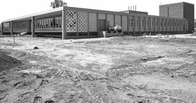 The Radiation Center Building soon after construction, 1964.