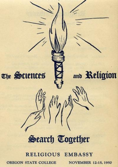 Religious Embassy flyer included in the scrapbook, November 1950.
