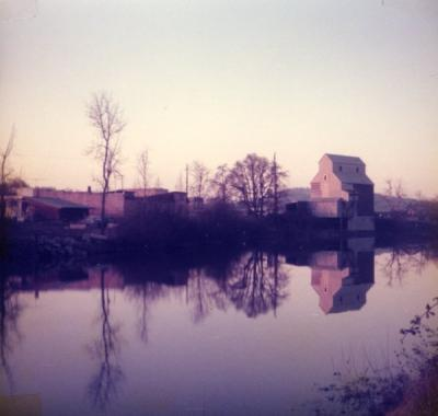 View of Monroe, Oregon from across the Long Tom River, 1977.
