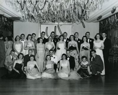 OSC students at a formal dance, ca. early 1950s.
