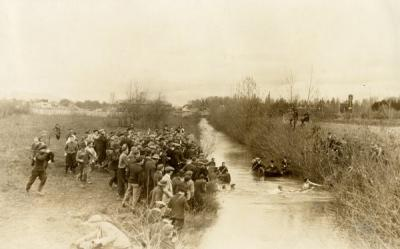 The annual freshman/sophomore class of 1917 and 1918 tug of war was held at Fischer's Mill Race. The class of 1918 won. 1915.