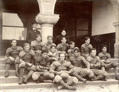 Group photo of the O. A. C. football team, 1902.