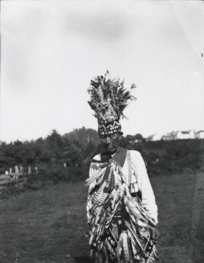 Baldwin Fairchild, Siletz Indian, at a 4th of July celebration, 1910.