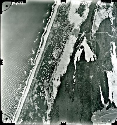 Aerial image of the Oregon Pacific coastline, 1972.