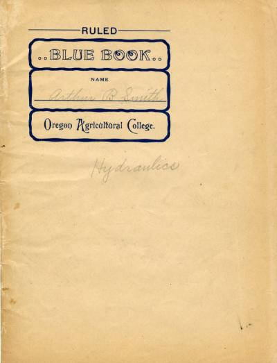 Blue Book used by Smith during his years at O.A.C., ca. 1906.