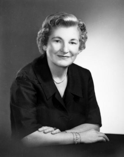 Esther Taskerud, ca 1960s. Taskerud became the Assistant State 4-H Club Leader in November 1947. She later served as the head of Home Economics from 1963-1969, retiring in 1970.