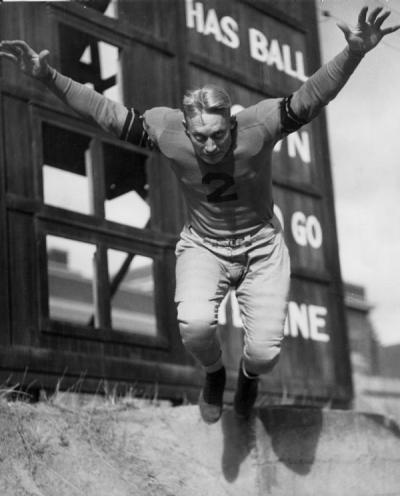 "<p>Oregon State College ""Ironman"" Bill Tomsheck, 1933. As a left guard on the legendary OSC ""Ironmen"" football team, Bill Tomsheck inspired the kind of fear in his opponents that helped the team to defeat top-ranked USC in</p><p>				1933.</p>"