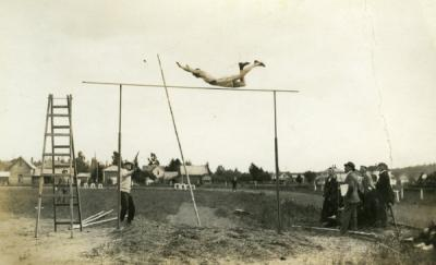 OAC pole vault competitor, ca 1910s.
