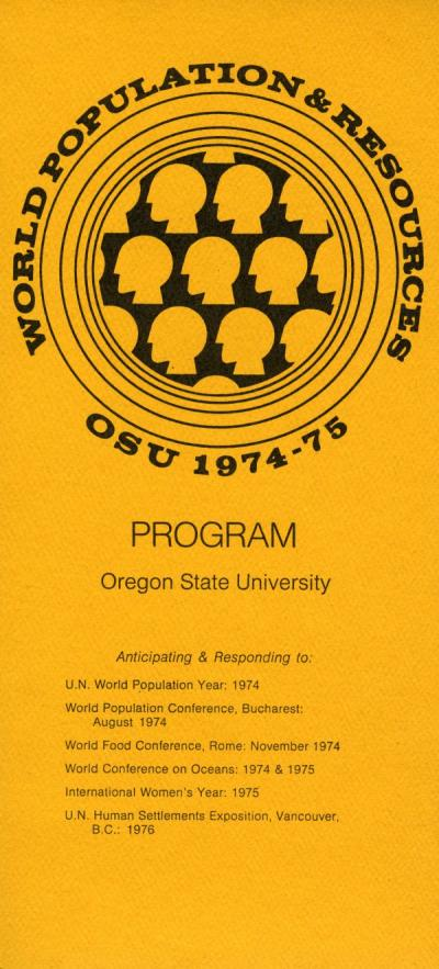 Cover of a program produced by the Office of Undergraduate Studies, ca 1974.