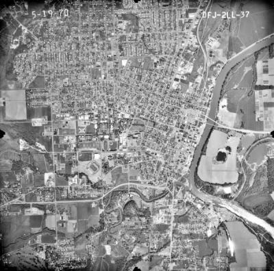 Aerial Map of Corvallis, Oregon, May 1970.