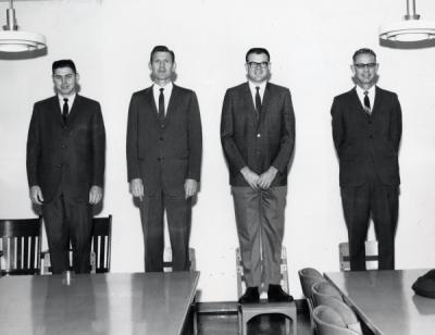George W. Varseveld, far left.
