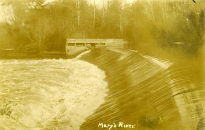 Marys River Dam, ca. 1913-1914.