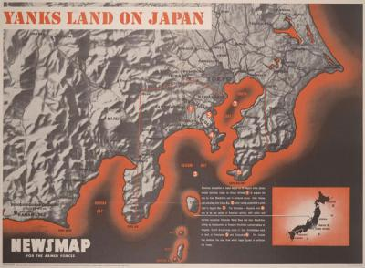 "Newsmap for the Armed Forces - ""Yanks Land on Japan,"" September 3, 1945."