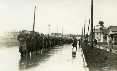 Image of an O.A.C. march, 1928.
