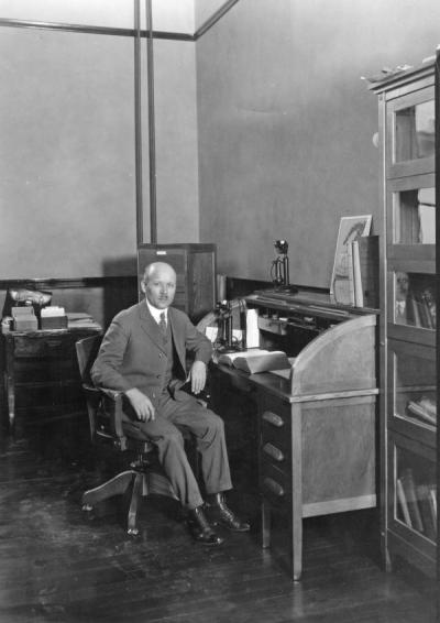Adolph Ziefle, 1920. Ziefle served as the first Dean of the College of Pharmacy from 1914-1940.