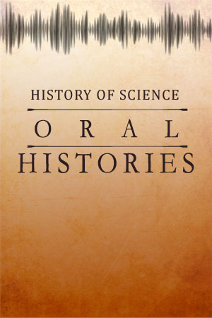 History of Science Oral History Collection. Logo created by Christy Turner.