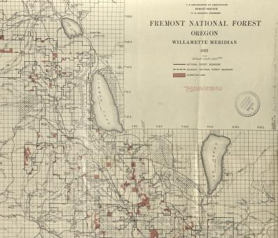 Fremont National Forest, Paisley Ranger District and Surrounding Area, 1923.