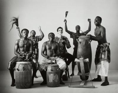 Obo Addy with Okropong, a performance group featuring traditional music and dance of Ghana.