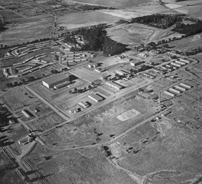 Aerial view of Adair Air Force Station, 1960.