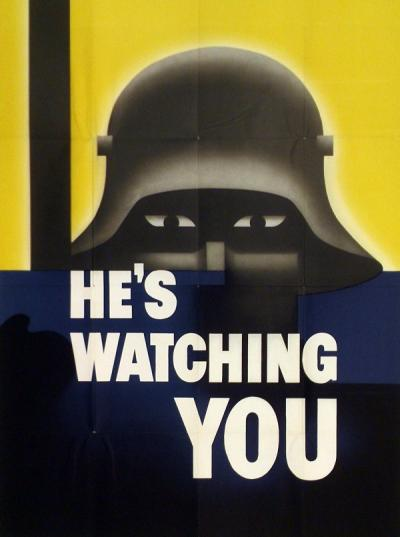 """He's watching you"" poster, 1942."
