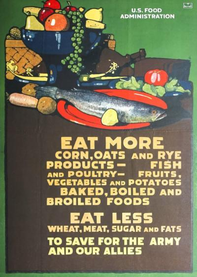 U.S. Food Administration poster, ca. 1917.