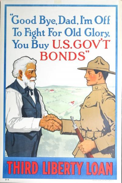 War Bonds promotional poster, 1918.