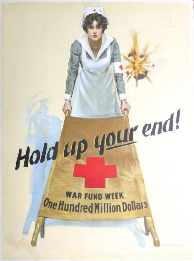 Red Cross poster, 1918.
