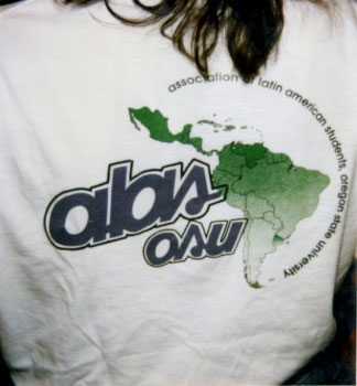 Images from an Association of Latin American Students Records scrapbook, March 1994.
