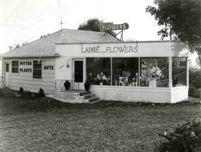 Image of Labbe Flowers, ca 1940s.