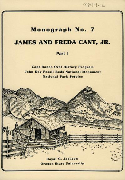 Cover image from a monograph held in the Cant Ranch oral history collection.