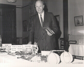 Paul R. Elliker, ca. 1960. Elliker became Microbiology Department chair in 1952 and quickly gained popularity for his cheese presentations.