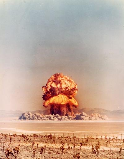 Above-ground nuclear test, ca. 1950s.