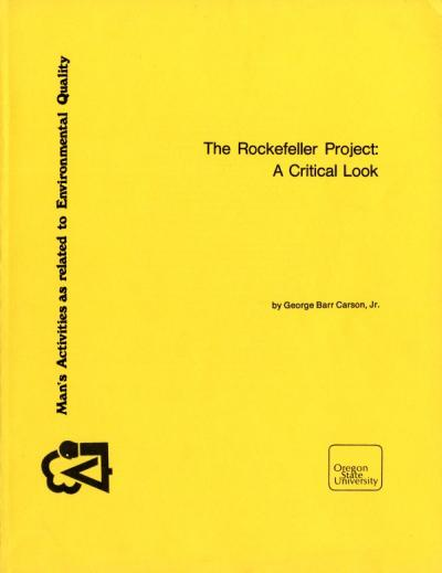 Report written by George Barr Carson, Jr. that provides a record and evaluation of the Rockefeller Project, June 1976.
