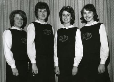 Group portrait of Talons Club members, ca 1960s.