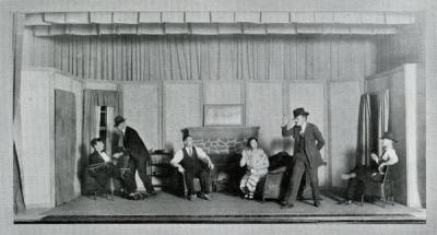 "Oregon State Agricultural College production of a short one-act play, ""The Man in the Bowler Hat,"" 1927."