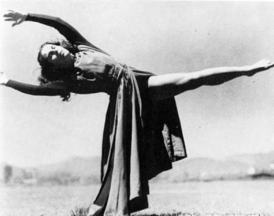 Betty Lynd Thompson, ca 1930s. Thompson was a dance instructor from 1927-1972 whose focus of interest was creative dance.
