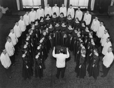 Choralaires performing with Robert Walls as director, ca. 1958.