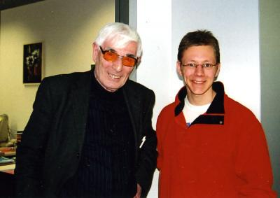 Jack Dunitz and an unidentified colleague, 2003.