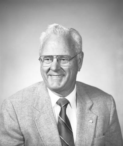 Warren Kronstad, September 1993. Kronstad was a faculty member in the Crop and Soil Science Department from 1959-1998. He led the Wheat Breeding Project, which created new varieties of wheat, and was also a recipient of the Oregon State University Distinguished Professor Award.